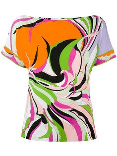 футболка с радужным принтом Emilio Pucci