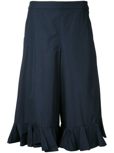 cropped frill-trim trousers Muveil