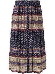 patterned pleated skirt Sea