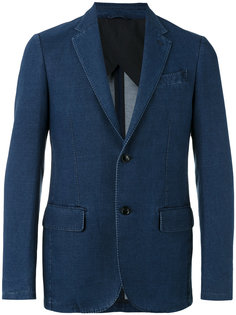 chambray two-button jacket Ermenegildo Zegna
