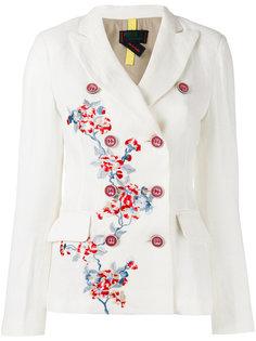 двубортный пиджак с цветочной вышивкой History Repeats