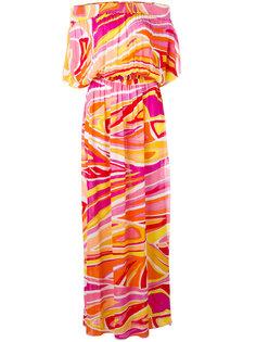 пляжное платье с присборенной отделкой Emilio Pucci