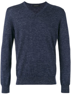 v-neck slub knit sweater Ermenegildo Zegna