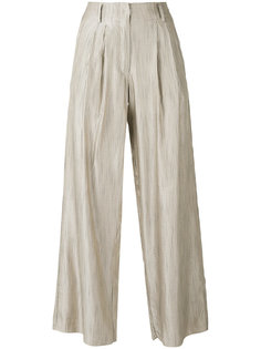 брюки-палаццо в полоску  Forte Forte