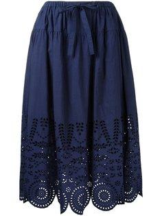 юбка А-образного силуэта с перфорацией Muveil