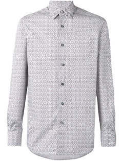long sleeve geometric print shirt Ermenegildo Zegna