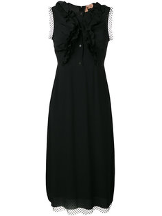 платье с сетчатой отделкой и рюшами Nº21