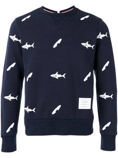 fish print sweatshirt  Thom Browne