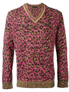 v-neck leopard sweatshirt Marc Jacobs