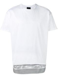футболка с сетчатым подолом Les Hommes