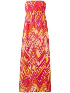 geometric print strapless dress M Missoni
