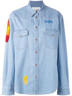 patched denim shirt Ava Adore
