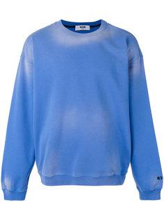 washout sweatshirt MSGM