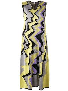 metallic zigzag midi dress M Missoni