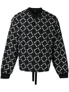 embroidered V-neck sweatshirt KTZ