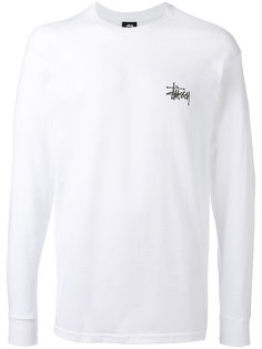 logo print sweatshirt Stussy