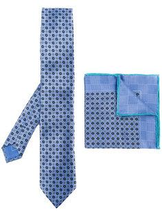 галстук и нагрудный платок с комбинированным принтом Brioni