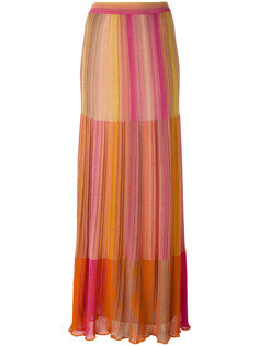 long metallic knit stripe skirt M Missoni