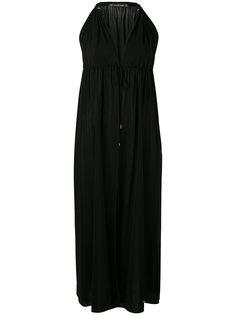 платье миди с вырезом-халтер Plein Sud