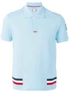 футболка-поло с контрастными полосками Moncler Gamme Bleu
