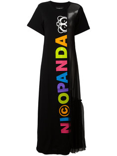 logo print maxi dress Nicopanda