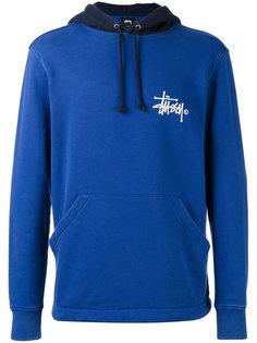 logo print hoodie Stussy