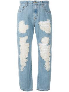 рваные укороченные джинсы Vivienne Westwood Anglomania
