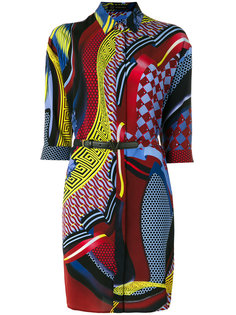 платье-рубашка с узором  Versace