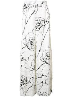 брюки-палаццо с разрезами  Christian Siriano