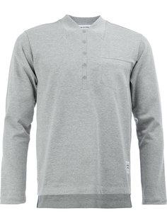 футболка-поло с псевдо-воротником Thom Browne