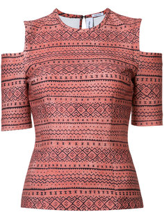 tribal cold shoulder top Yigal Azrouel