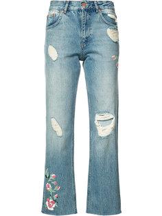 укороченные джинсы с потертой отделкой Anine Bing