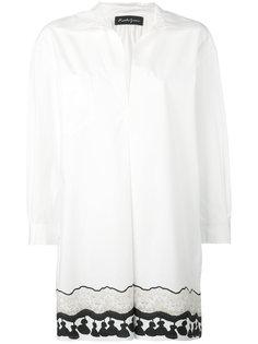 удлиненная рубашка с принтом в виде кисточек Rossella Jardini