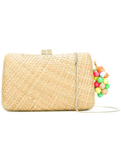 woven bead detail clutch Serpui