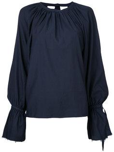 присборенная блузка с длинными рукавами  Cityshop