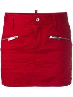 мини юбка с карманами на молнии Dsquared2