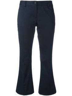 раклешенные укороченные брюки Alberto Biani