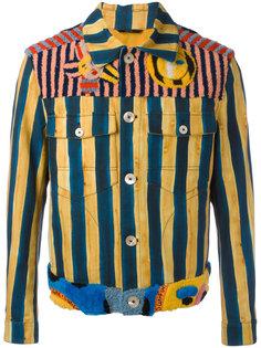 джинсовая куртка в полоску Fendi