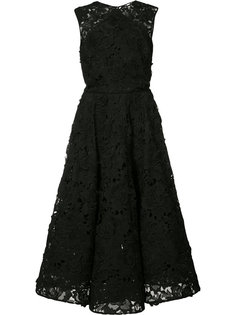 floral lace dress Christian Siriano