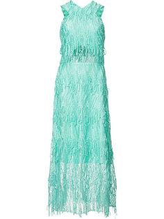 вечернее платье с вышивкой Christian Siriano