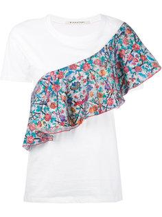 футболка со вставкой с цветочным узором Miahatami