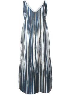 полосатое платье длины миди Stephan Schneider