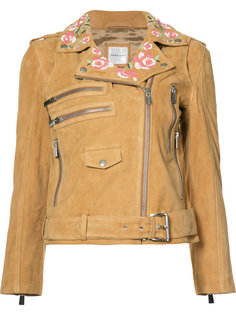 байкерская куртка с вышивкой Anine Bing