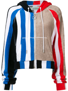 striped zipped hoodie Off-White