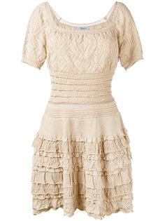 трикотажное платье с короткими рукавами Blumarine