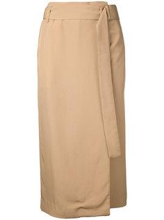 юбка с запахом и поясом Cityshop