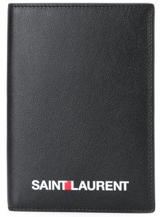 складной кошелек с логотипом  Saint Laurent