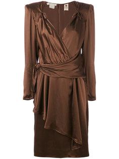 структурированное вечернее платье Emanuel Ungaro Vintage