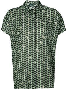 geometric print short sleeve shirt Alena Akhmadullina