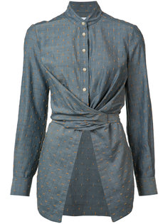 bow tie wrap blouse Yigal Azrouel
